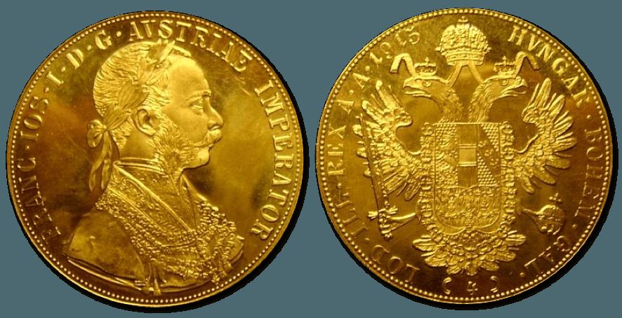 Monedas De Oro 4 Ducados De Austria