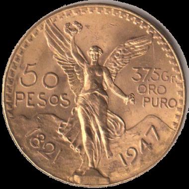 50 pesos mexico 1947 oro2