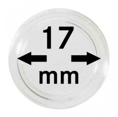 Cápsulas Lindner para monedas de 17mm
