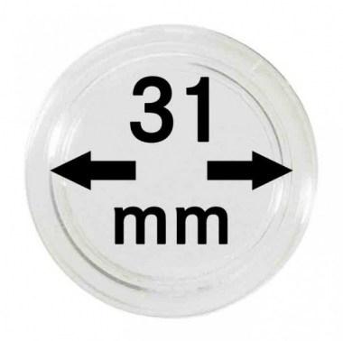 Cápsulas Lindner para monedas de 31mm