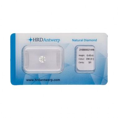 Diamante HRD certificado 0,43ct E SI1
