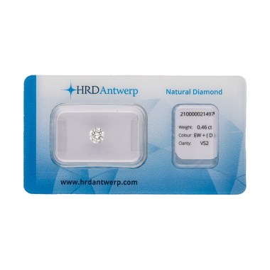 Diamante HRD certificado 0,46ct D VS2