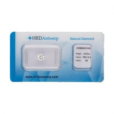 Diamante HRD certificado 0,53ct G SI2