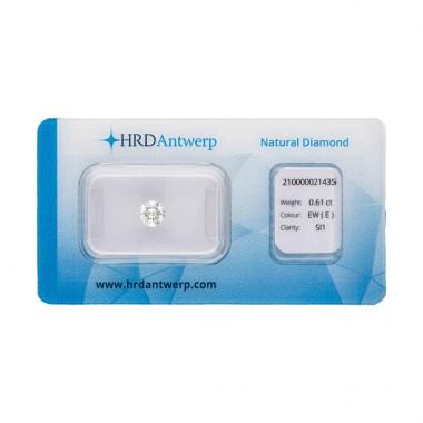 Diamante HRD certificado 0,61ct E SI1