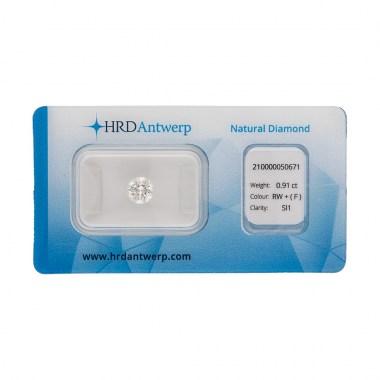 Diamante HRD certificado 0,91ct F SI1