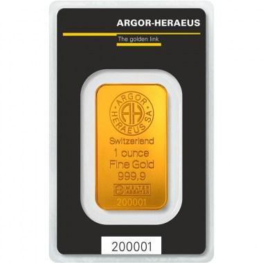 Lingote de Oro Argor-Heraeus Classic de 1oz