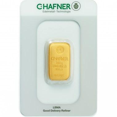 Lingote de Oro C Hafner de 250g