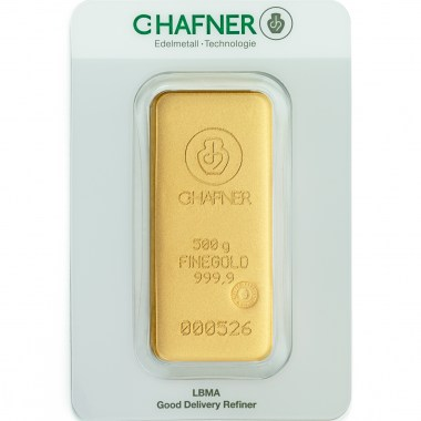 Lingote de Oro C Hafner de 500g