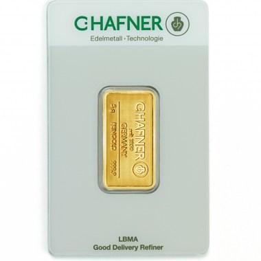 Lingote de Oro C Hafner de 5g