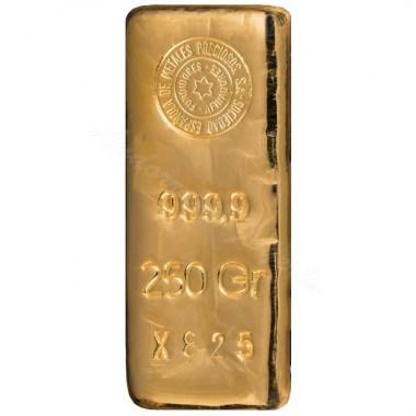 Lingote de Oro SEMPSA de 250g