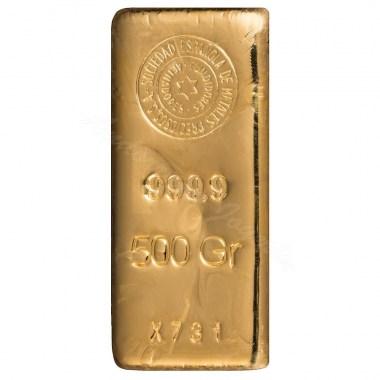 Lingote de Oro SEMPSA de 500g