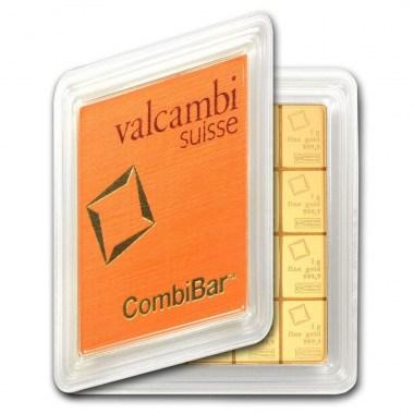 Lingote de Oro Valcambi CombiBar de 20g