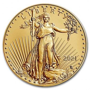 Moneda de Oro American Eagle Tipo 2 2021 1 oz reverse