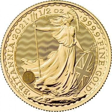 Moneda de Oro Britannia 2021 1/2 oz