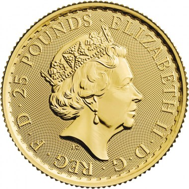Moneda de Oro Britannia 2021 1/4 oz