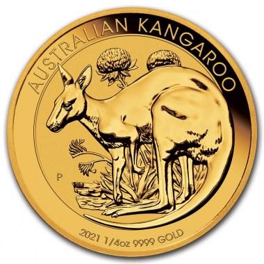 Moneda de Oro Canguro 2021 1/4 oz