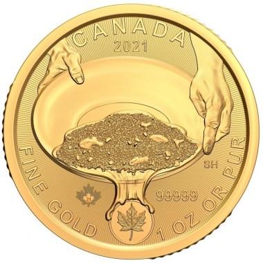 Moneda de Oro Fiebre del Oro de Klondike Búsqueda de oro 2021 1 oz