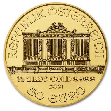 Moneda de Oro Filarmónica 2021 1/2 oz