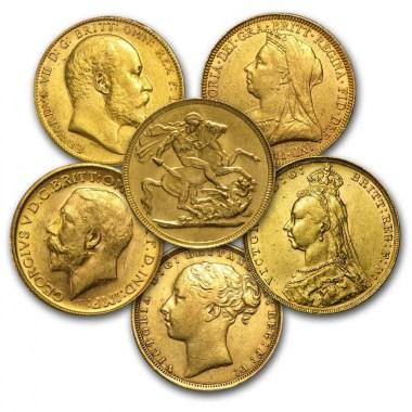 Moneda de Oro Soberano años varios