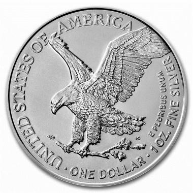 Moneda de Plata American Eagle Tipo 2 2021 1 oz reverse