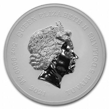 Moneda de Plata Dioses del Olimpo - Hades 2021 5 oz
