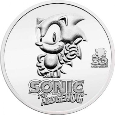 Moneda de Plata Hedgehog Sonic 30 aniversario 2021 1 oz