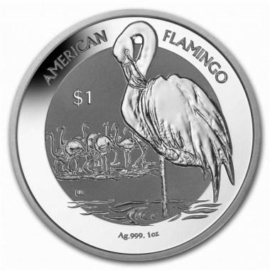 Moneda de Plata Flamenco de Islas Vírgenes 2021 1 oz
