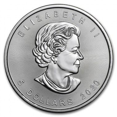 Moneda de Plata Maple Leaf de Canadá 2020 1 oz