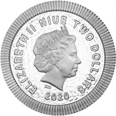 Moneda de Plata Búho ateniense de Niue 2020 1 oz