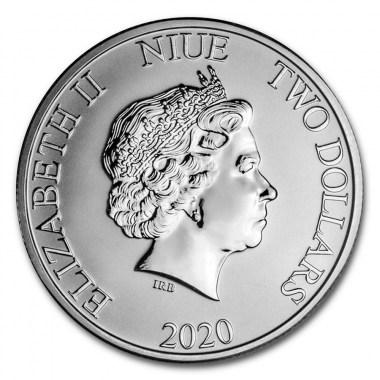 Moneda de Plata Disney El Rey León El Círculo de la Vida de Niue 2020 1 oz