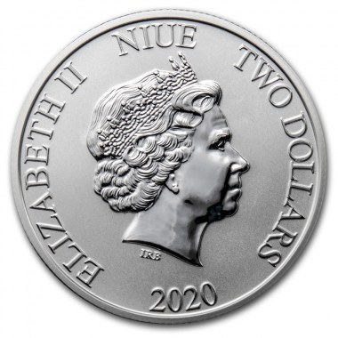 Moneda de Plata Disney Mickey Mouse y Pluto de Niue 2020 1 oz