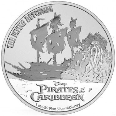 Moneda de Plata Piratas del Caribe El Holandés Errante 2021 1 oz