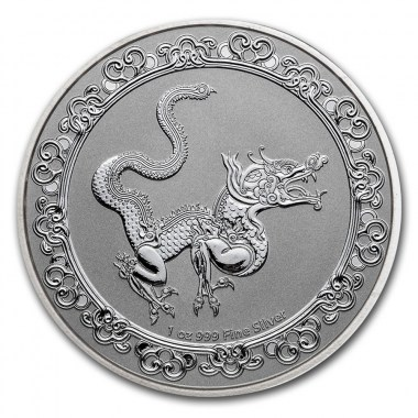 Moneda de Plata Serpiente Amarilla Celestial de Niue 2020 1 oz