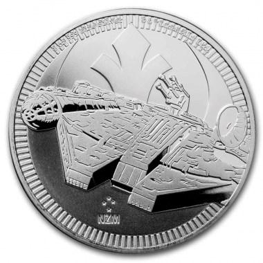 Moneda de Plata Star Wars Halcón Milenario de Niue 2021 1 oz