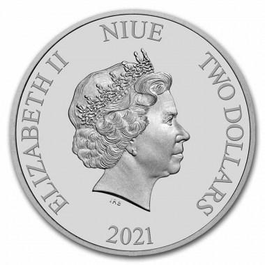 Moneda de Plata Wonder Woman de Niue 2021 1 oz
