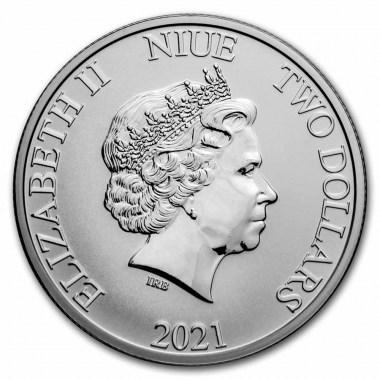 Moneda de Plata Piratas del Caribe La Perla Negra 2021 1 oz