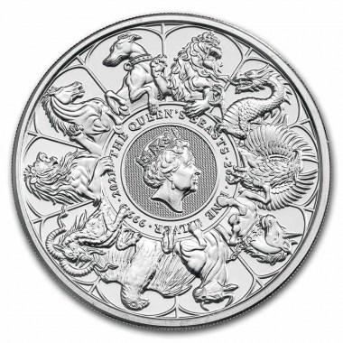 Moneda de Plata Queen's Beasts Completer 2021 2 oz