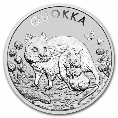 Moneda de Plata Quokka 2021 1 oz