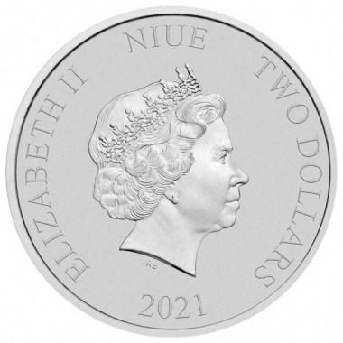 Moneda de Plata Regreso al Futuro II 2021 1 oz