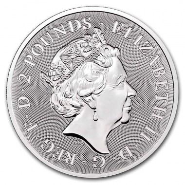 Moneda de Plata Valiant de Reino Unido 2021 1 oz