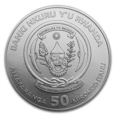Moneda de Plata Okapi de Ruanda 2021 1 oz