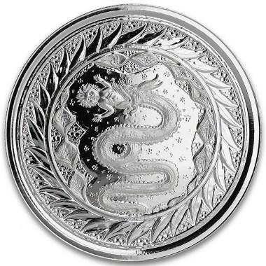 Moneda de Plata Serpiente de Milán de Samoa 2020 1 oz