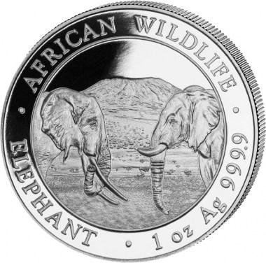 Moneda de Plata Elefante de Somalia 2020 1 oz