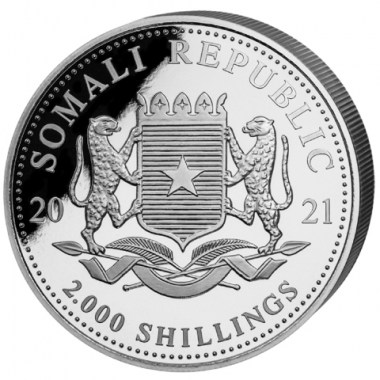 Moneda de Plata Leopardo de Somalia 2021 1 kg