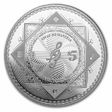 Moneda de Plata Vivat Humanitas de Tokelau 2021 1 oz