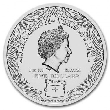 Moneda de Plata Zodiaco - Capricornio de Tokelau 2021 1 oz