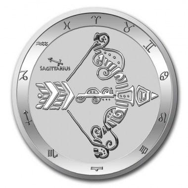 Moneda de Plata Zodiaco - Sagitario de Tokelau 2021 1 oz