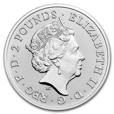 Moneda de Plata Queen de Reino Unido 2020 1 oz