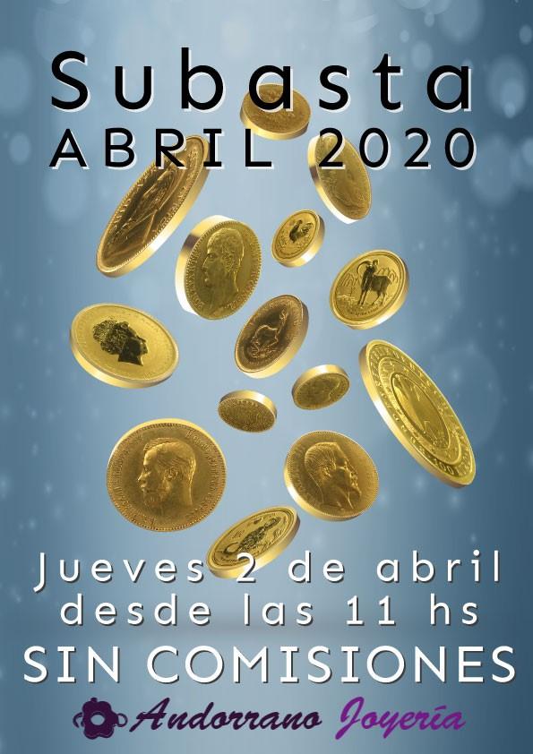 Subasta Abril 2020