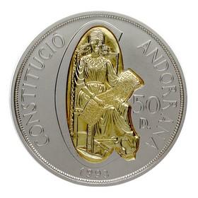 Moneda Andorra 50 Diners Oro y Plata 1993 159,02 g